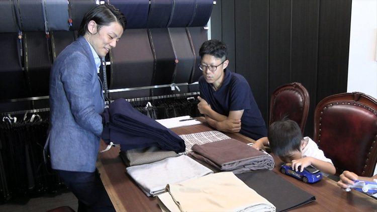 おやコーデのサロン接客(2019.09.08生地選び)5