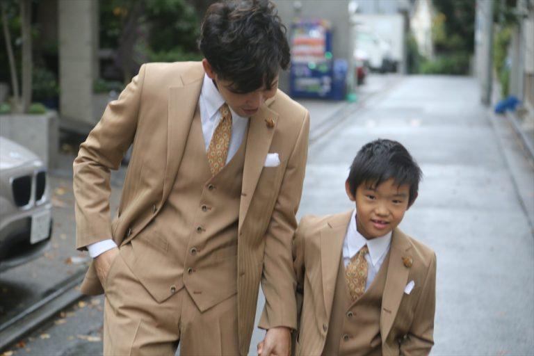父と息子のリンクコーデ
