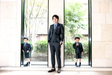 卒園式は男の子スーツをリンクコーデで!