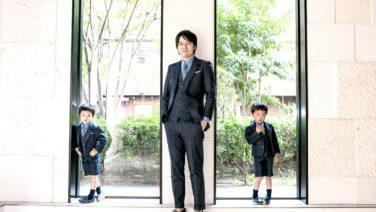 卒園式のスーツ