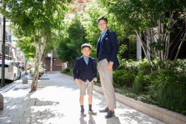 入学式で男の子もジャケットデビュー!