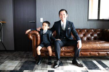 結婚式に家族で出席!パパと親子コーデ